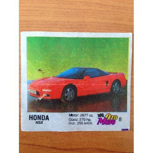 Honda NSX.  Вкладыш от жвачки OTO MOTO 8