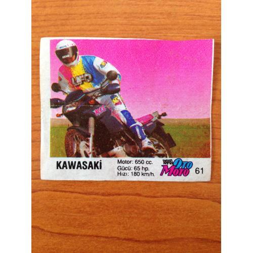 Kawasaki.  Вкладыш от жвачки OTO MOTO 61