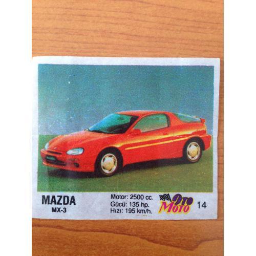 Mazda MX-3.  Вкладыш от жвачки OTO MOTO 14