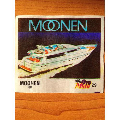 Moonen 80. Вкладыш от жвачки OTO MOTO 29