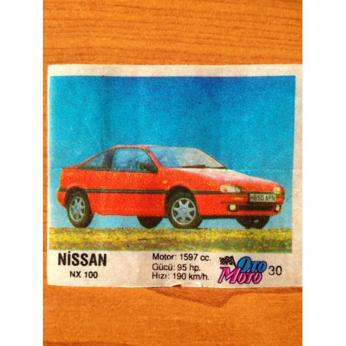 Nissan NX100.  Вкладыш от жвачки OTO MOTO 30
