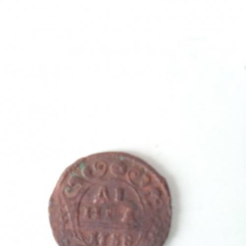 Монета анны иоановны 1738 года деньга.