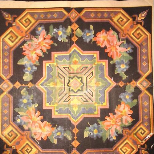 Узор вышивки крестом диванной подушки, типография имени СТАЛИНА, 1959 г.