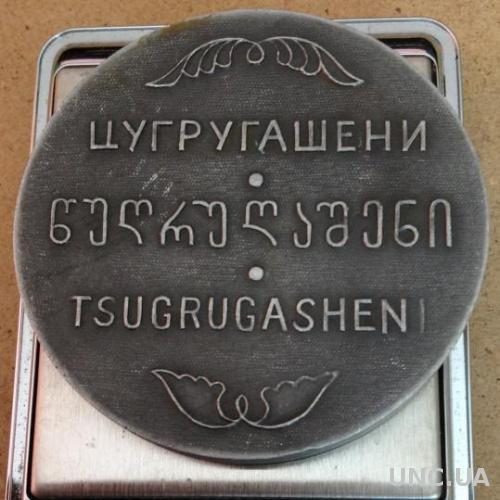 Цугругашени Tsugrugasheni Грузия настольная медаль