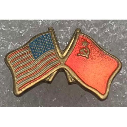 Дружба США СССР USA USSR Флаги США и СССР тяж металл