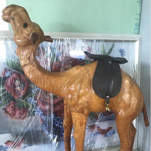 Фигурка статуэтка Верблюд, натуральная кожа 30 х 36 х 10 см 12 дюймов Египет