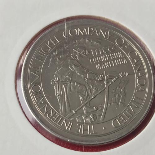 INTERNATIONAL NICKEL COMPANY CANADA LIMITED INCO THOMPSON MANITOBA 1874 1974 WINNIPEG CENTENNIAL