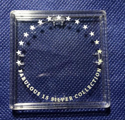 КВАДРАТНАЯ КАПСУЛА ДЛЯ МОНЕТЫ FABULOUS 15 silver collection Архістратиг Архистратиг родная НБУ