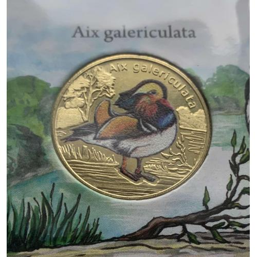 Мандаринка Aix galericulata BIRDS OF THE WORLD Isla San Felix 2021 one dollar 1 остров Сан Феликс