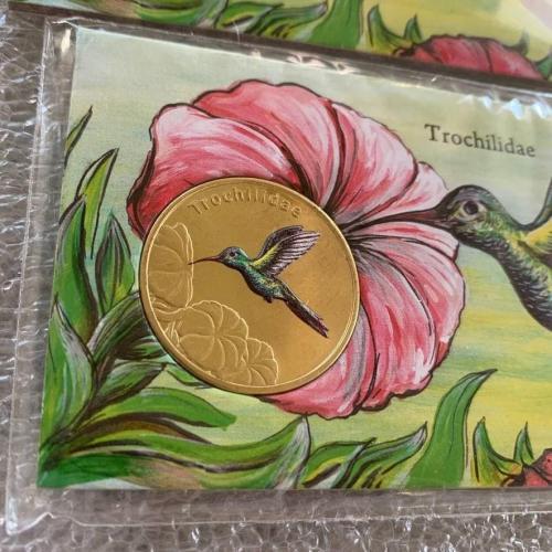 Колибри Trochilidae BIRDS OF THE WORLD Isla San Felix 2021 one dollar 1 остров Сан Феликс