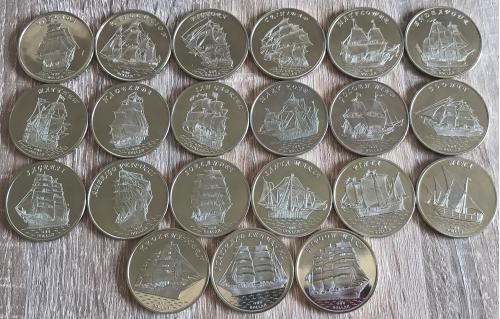 Острова Гилберта Gilbert Islands Вітрильники парусники 15 монет НОВИНКА 2018 2017 2016 2014 1$