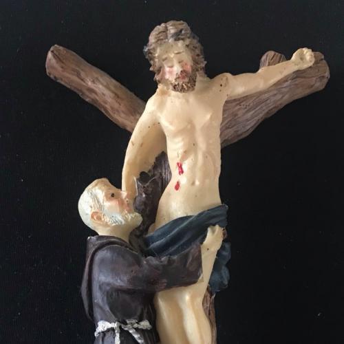 РАСПЯТИЕ ИИСУСА ХРИСТА 14,8 х 9 см на последних двух фото на рясе внизу цифры 4363-9