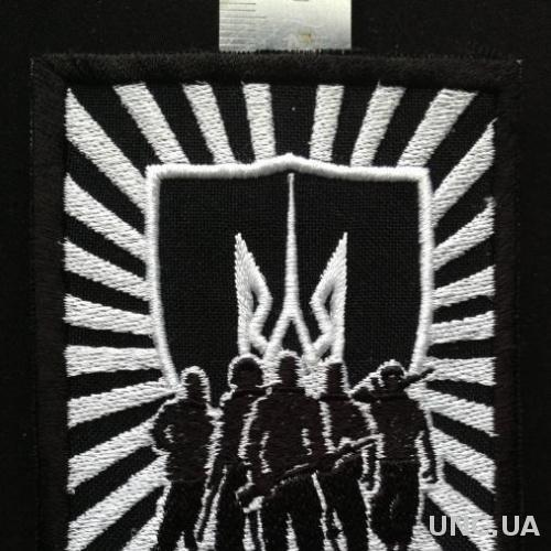 Шеврон нашивка АТО Чорний корпус Азов