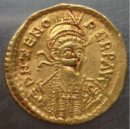 Солид Византия Флавий Зенон золото 4,4 г 474-491 г н э