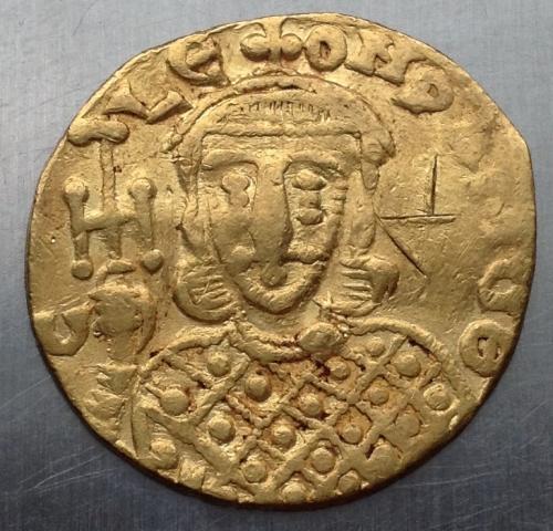 Солид Византия КОНСТАНТИН V Лев IV золото 3,8 г 764 - 773 г н э