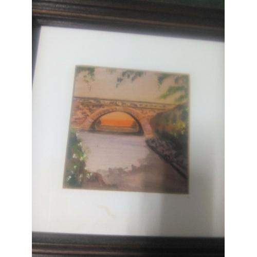 """Картина на шелке """"Мост"""""""
