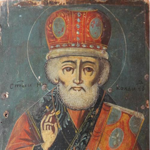 "Икона ""Николай"" зимний, Украина  25х17 см"