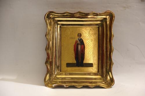 """Икона """"Павел"""" в киоте  10,6х13,4 см"""