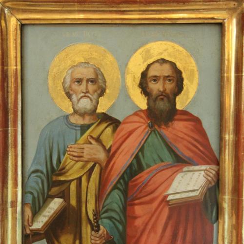 "Икона ""Петр и Павел"". 26х31 см."