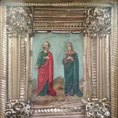 """Икона """"Святые Аким и Анна"""" Украина, киот  28х22,5 см"""
