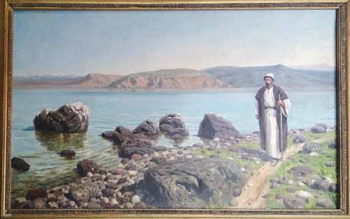 """Картина """"Христос на Генисаретском озере"""" В.Поленов. 80х60 см"""