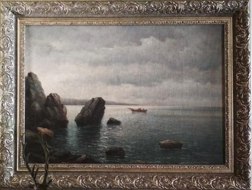 "Картина ""Морской пейзаж"" Лагорио Лев Феликсович 1885 г 50х73 см"