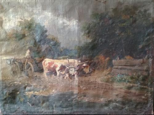 """Картина """"Перед грозой"""" Сеньи Иштван. 59х79 см"""