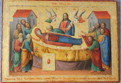 Киево-Печерская икона Успения Пресвятой Богородицы 27х38 см