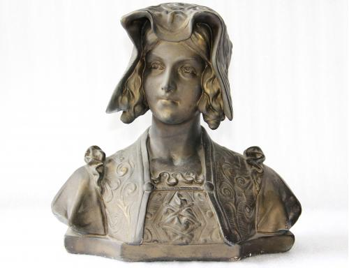 Статуэтка гипсовая дама Германия размер 35х34