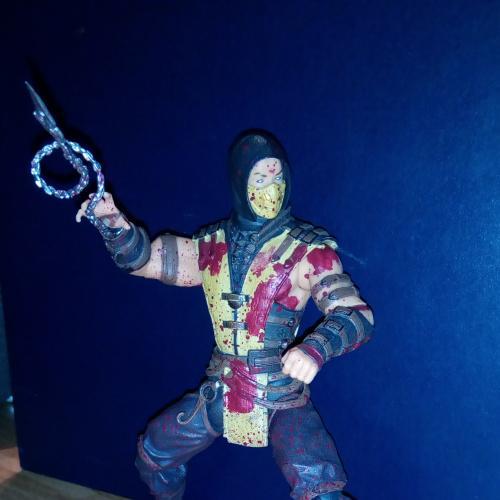 Фигурка Mortal Kombat X. Scorpion Bloody Variant, 15 см