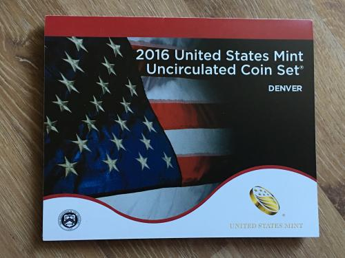 2016 United States mint uncirculated coin set. Denver