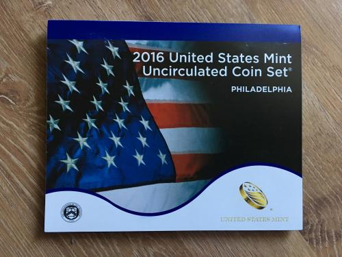 2016 United States mint uncirculated coin set. Philadelphia