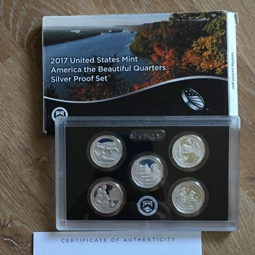 America the Beautiful Quarters 2017 Silver Proof Set