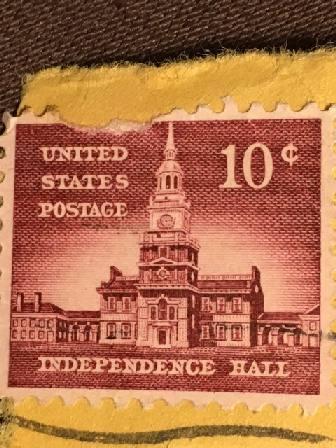Марка США.  10 центов.