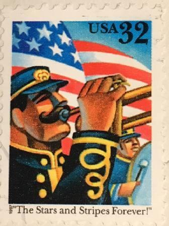 Марка США.  32 цента. Оркестр. 1997 г.