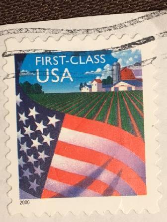 Марка США. Флаг, ферма. 2000 г.