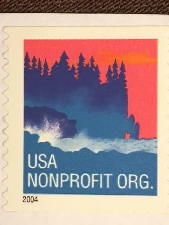 Марка США. Море, лес. 2003 г.