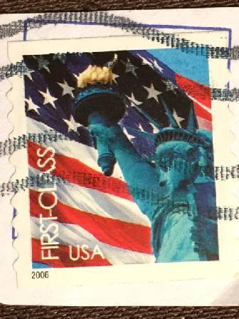 Марка США.  Статуя Свободы. 2006 г.