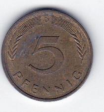 5  пфенінгів