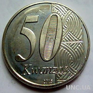 Ангола 50 кванза 2015 год