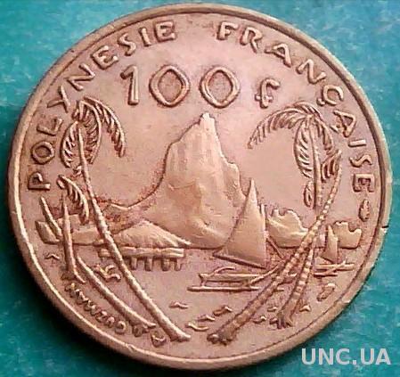 Французская Полинезия 100 франков 1976 год