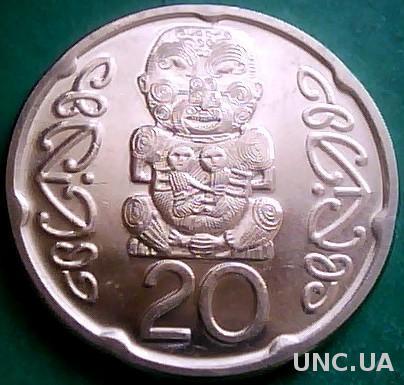 Новая Зеландия 20 центов 2006 год