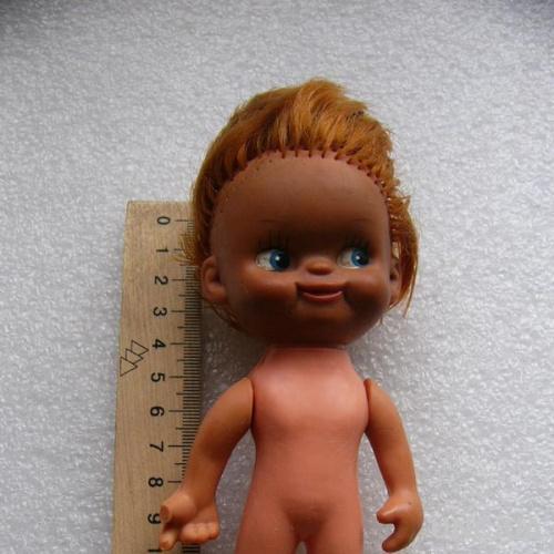 "Кукла ГДР Sсhаlkau (""копытные"" ) головастик негритёнок, 14 см."