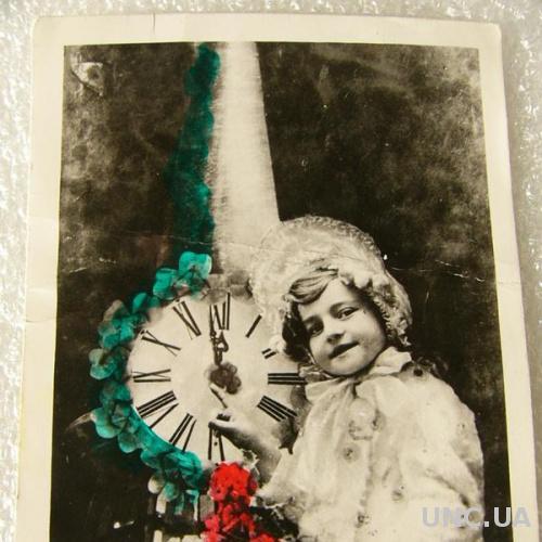 Редкая открытка, Новый Год, европа 45-46 год
