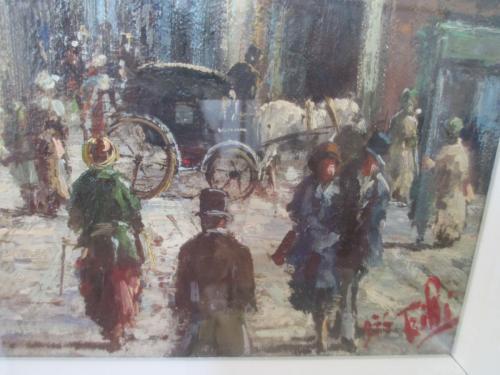 Картина автор. работа Trilli 1975 г. художник Spagnoli- Испания. 63 см. х 53 см. масло. рама.