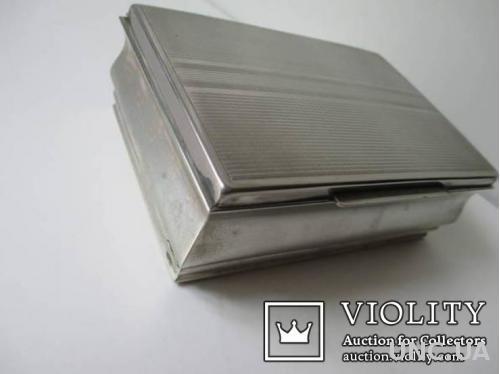 Коробка для Сигар.  P. V. Alpakka  1920-1940 г. вес -275 гр. ( можно для табака). клейма.