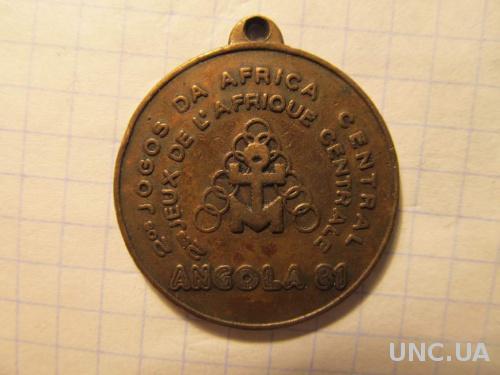 Медаль спортивная. Ангола 1981 г.