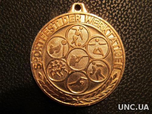 Медаль спортивная. ГДР .45мм.