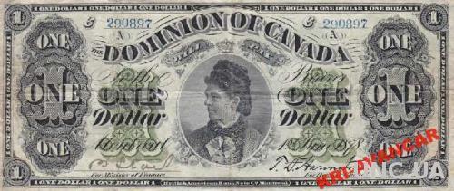Канада 1 доллар 1878 год. КОПИЯ
