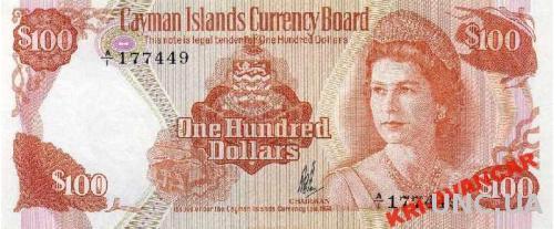Каймановы острова 100 долларов 1974 год. КОПИЯ